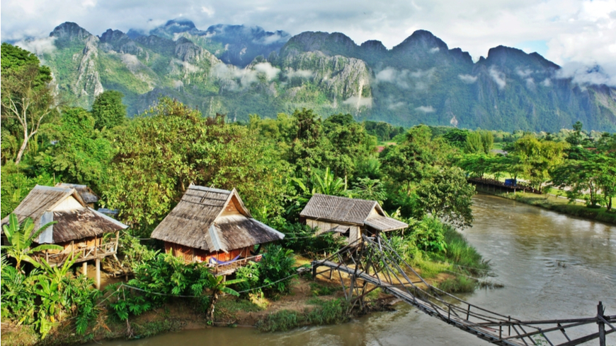 The government of Lao PDR is committed to a climate resilient and sustainable development, and important progress has been achieved in the areas of floods protection and water management, resilient agriculture, and forest conservation. Photo: Suchada Rujayakornkun/Shutterstock.