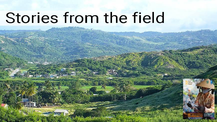 View of farm land in Barbados