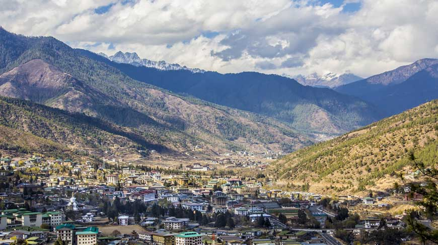 Thimpu City, Bhutan.