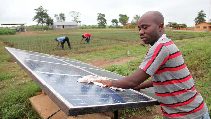 Solar panel in Benin