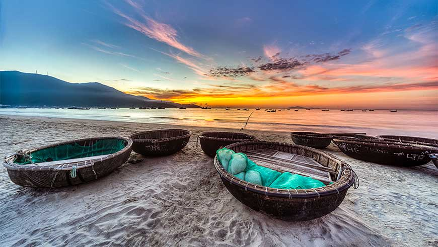 Traditional boats in Viet Nam