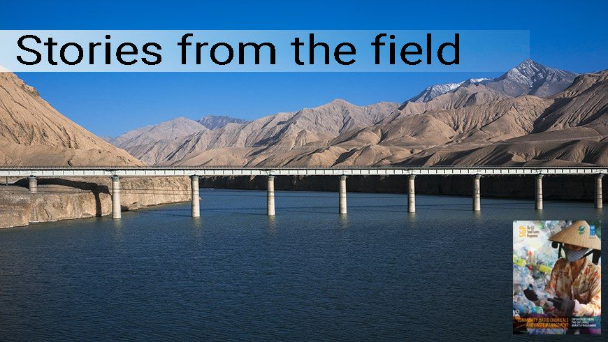 The Qinghai-Tibet railway passes over a lake in the Tibetan highlands.