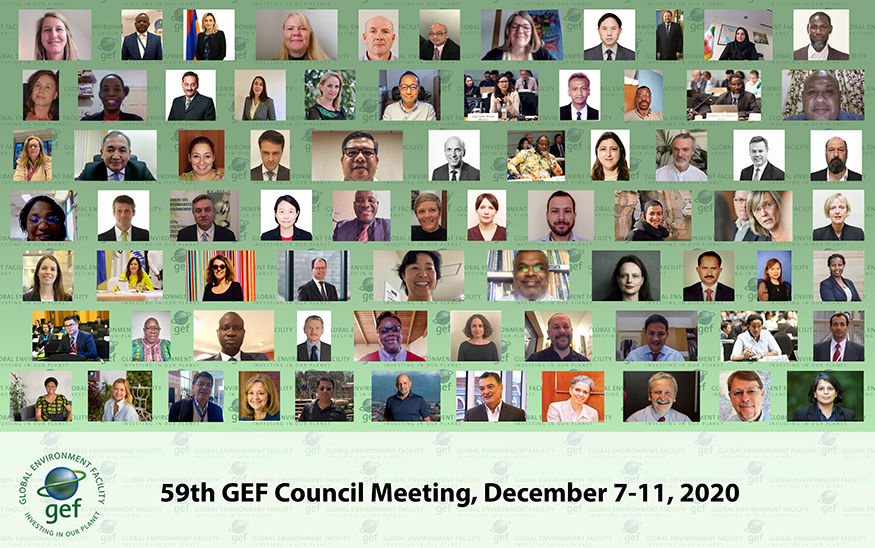 Mosaic of participants to the 59th GEF Council