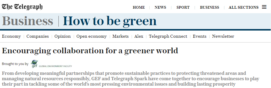 GEF Telegraph partnership