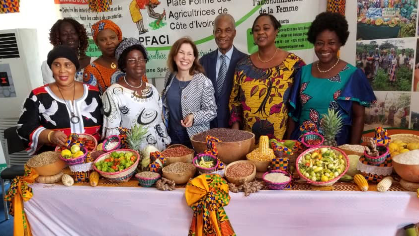 Paola Ridolfi at an agribusiness event in Abidjan, Côte d'Ivoire