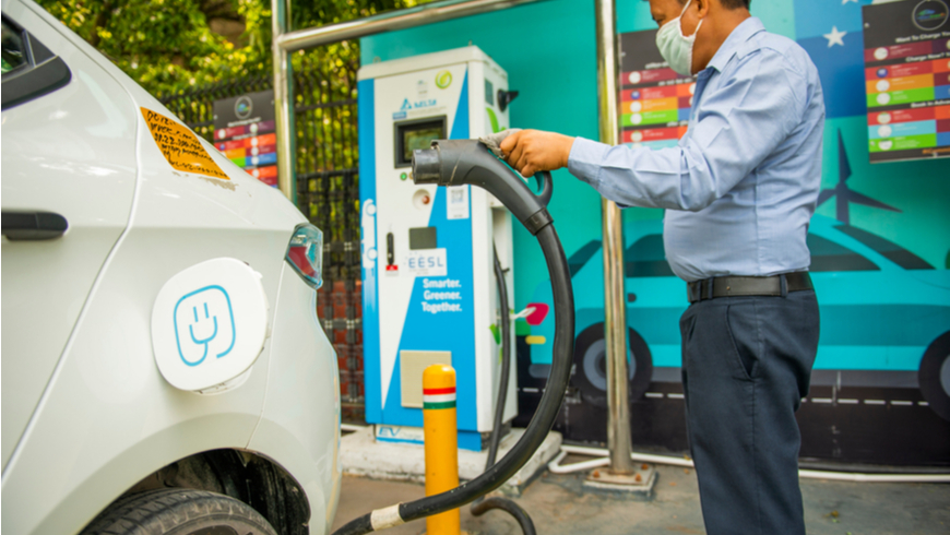 Charging an electric car in India