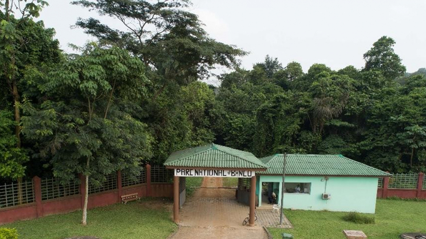 Entrance to Banco National Park in Cote d'Ivoire