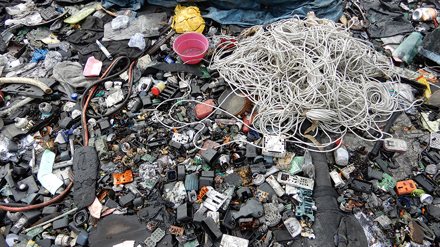 Nigeria is one of the world's top destinations for electronic waste. But what happens when it gets there? Photo: Irene Galan/UN Environment.