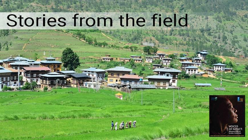 Village in Punakha Valley, Bhutan