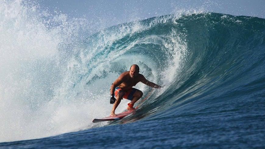 Carlos Manuel Rodriguez surfing
