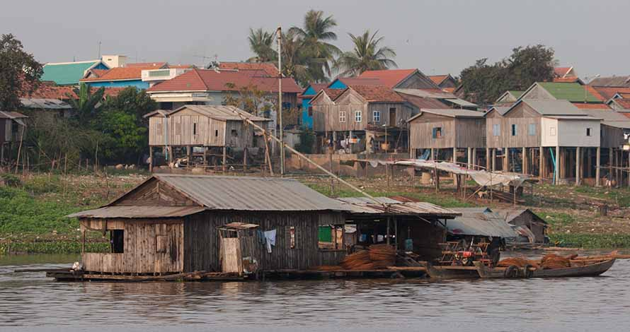 In August, the Cambodia's National Committee for Disaster Management (NDCM) reported that 30 people had been killed by flooding caused by heavy rainfall and a swelling Mekong River. Photo: Shutterstock.