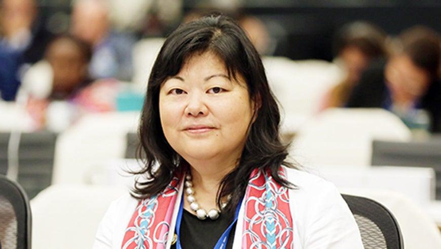 Chizuru Aoki portrait at COP13 for biodiversity