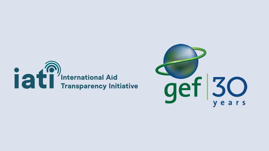 IATI and GEF logos