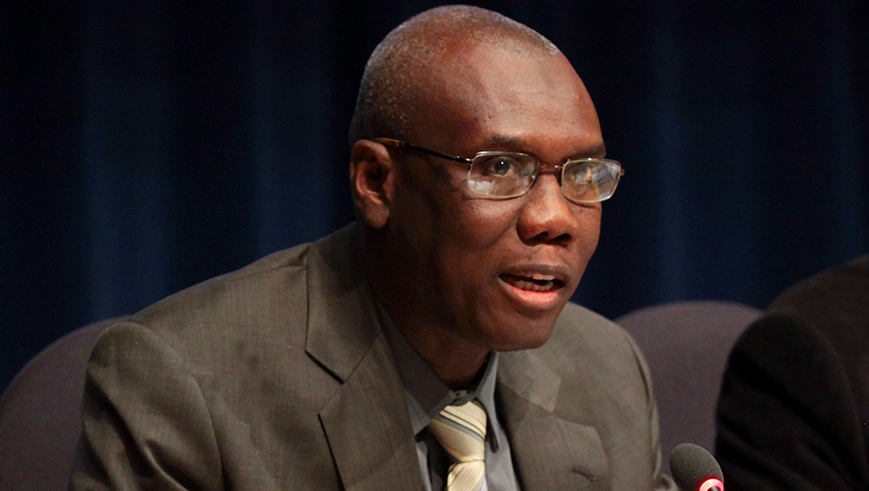 Ibrahima Sow speaking at the 44th GEF Council meeting