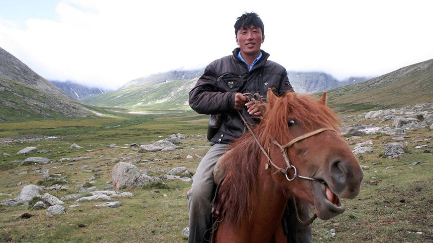 Altai Sayan man and horse
