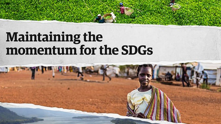 """Maintaining the momentum for the SDGs"" event cover"