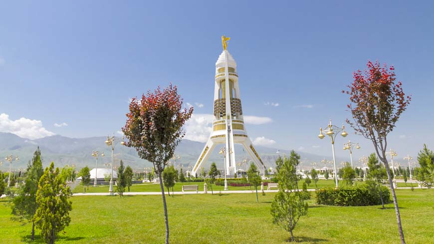 Neutrality Monument Park, Ashgabat, Turkmenistan - Comprehensive, far‑reaching, and long-term national conservation programs currently under way in Turkmenistan are aimed at ensuring harmonious interaction with the environment and the creation of a green economy.