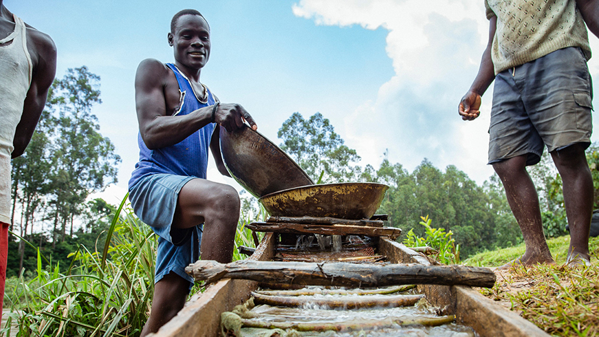 Artisanal small gold miners at work in Kenya