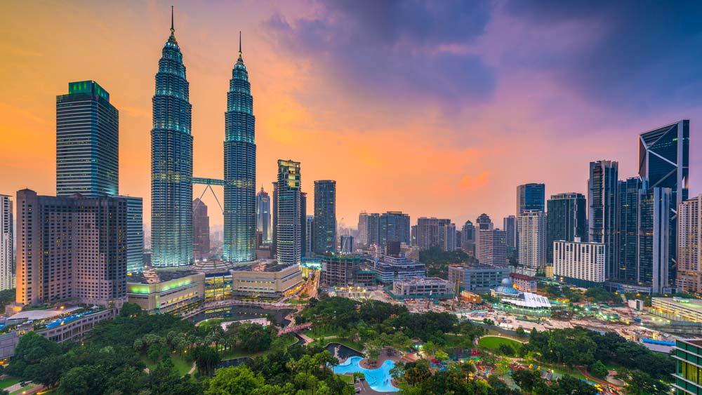 Kuala Lumpur skyline at dusk