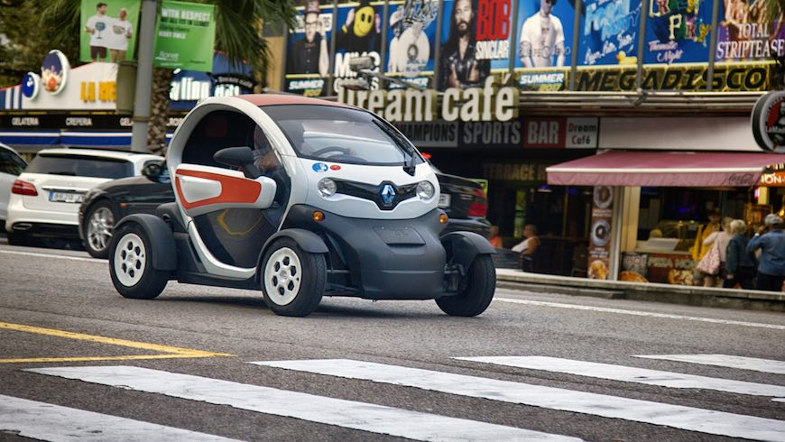 Smart car driving on street