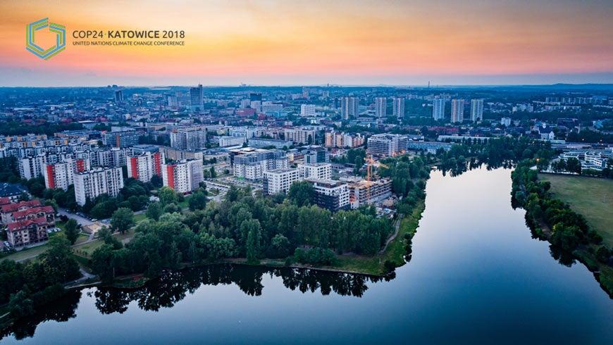 Katowice, Poland aerial view