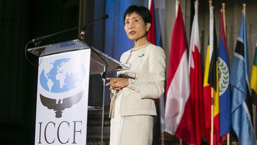 Naoko Ishii at the ICCF Gala 2018
