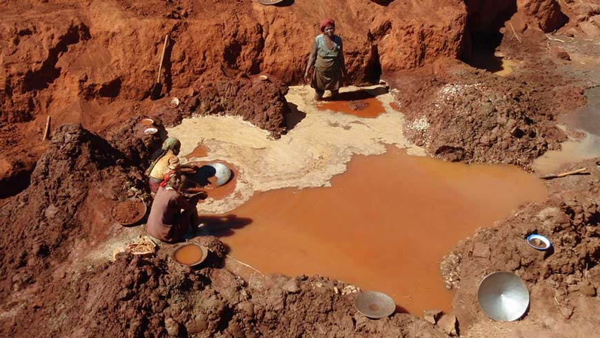 Mercury in small scale mining