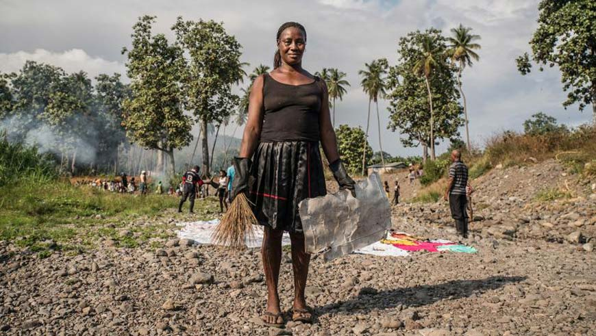 """I know that our clean-up work in the river basin will benefit the entire population of Neves and secure a better future for everybody"":  Maria Lucilia heads the women's groups involved in Neves' clean-up Credit: UN Environment/UNDP"