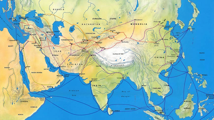 Network of Silk Road Cities, 300 B.C. - A.D. 100, UNESCO