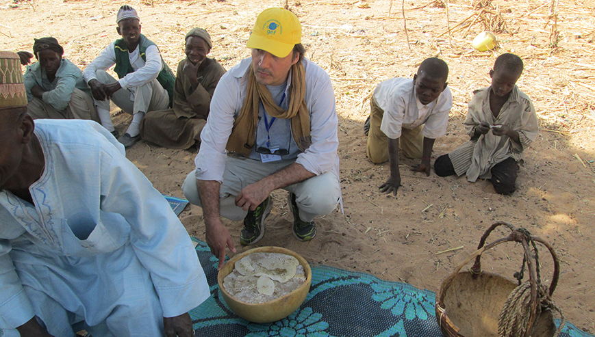 Jean-Marc Sinassamy at a project meeting in Niger