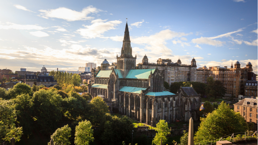 Glasgow cathedral and surrounding skyline