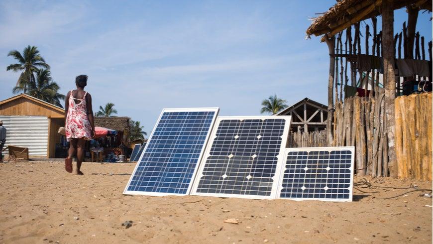 Solar panels in Madagascar