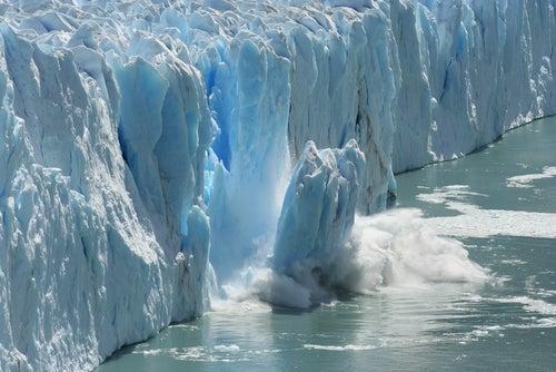 Antarctic Melting Glacier in a Global Warming Environment