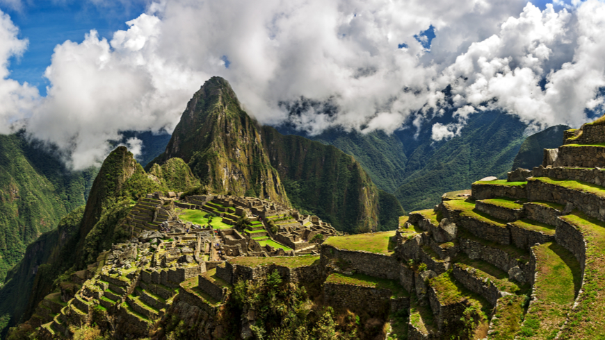 Panoramic shot of Machu Picchu