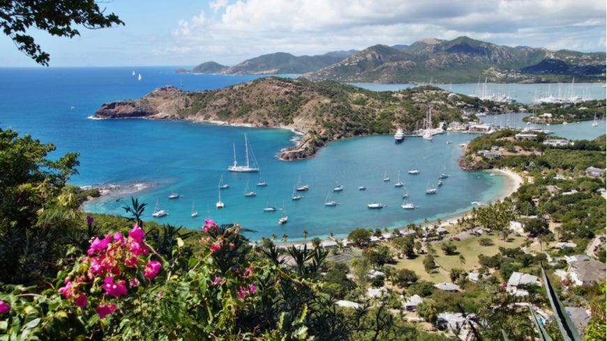 Falmouth Harbor landscape in Antigua