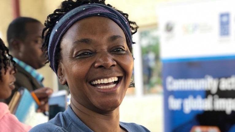 Susan Matindi Waithaka smiling