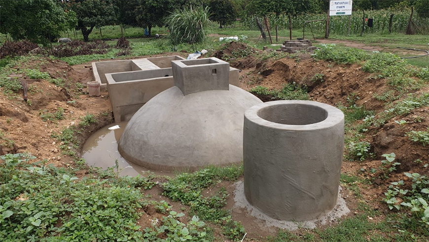 Constructed biogas digester