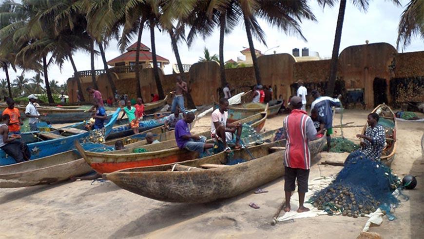 Fishing boats in Liberia.